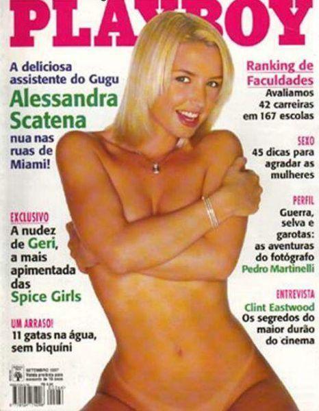 Alessandra Scatena pelada na revista Playboy