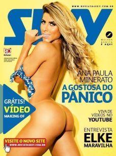 Ana Paula Minerato pelada na revista sexy em agosto de 2014