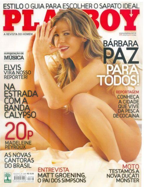 Bárbara Paz nua na revista playboy em setembro de 2007