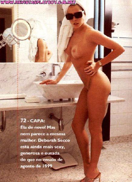 Deborah Secco nua na revista playboy em agosto de 2002