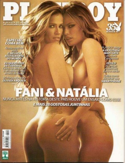 Fani Pacheco e Natalia Casassola nuas na na playboy em novembro de 2010