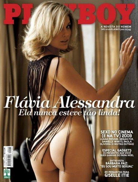 Flávia Alessandra nua na playboy em dezembro de 2009