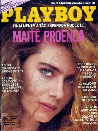 Maitê Proença nua na revista playboy em fevereiro de 1987