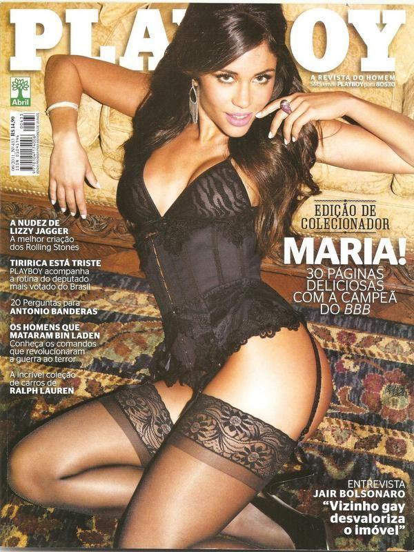 Maria Melilo pelada na playboy em junho de 2011