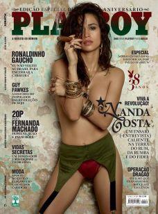 Nanda Costa pelada na playboy em agosto de 2013