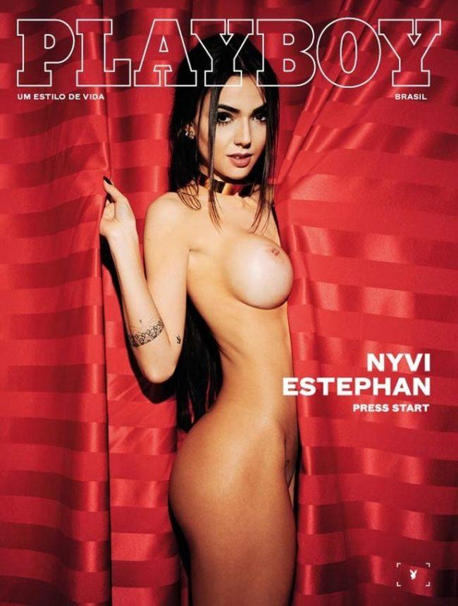 Nyvi Estephan nua na revista Playboy