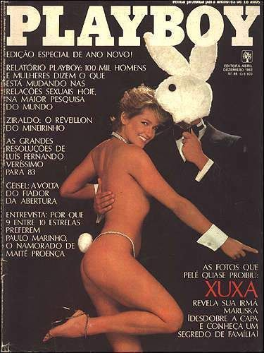 Xuxa Meneghel nua na revista playboy em dezembro de 1982